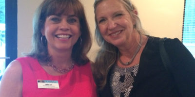 Linda Gay of The CreekLine with  Carole Bayer of Coldwell Banker, Beaches at the St. Johns County Chamber of Commerce After Hours event