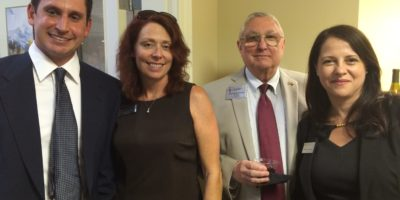 Dr. Dan Vosgerichian, Cathy Johnson of Haven Hospice, Sonny Shanks of Southern Exposure Real Estate Services and Isabelle Rodriguez, President / CEO of the St. Johns County Chamber of Commerce