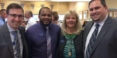 Harry Crowell Jr., Juan Herrera, Angie Chriest and Brett Winney of VyStar.
