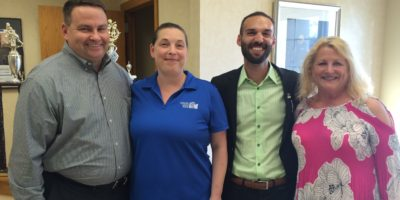 George Bobin, Christie Drake, Josh Chapman and Beth Caldwell of Atlantic Coast Bank.