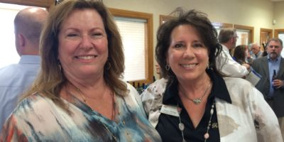 Debra Bulak, St. Johns County Chamber of Commerce membership manager and Tracey Phillips of Promotional Presence.
