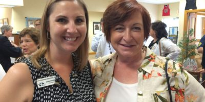 Gwen Freeman of Lithographic Services, Inc. and Jeanne Maron of The Gifted Cork.